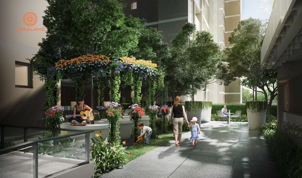 Thiết kế mảng xanh tại dự án căn hộ D'Edge Quận 2