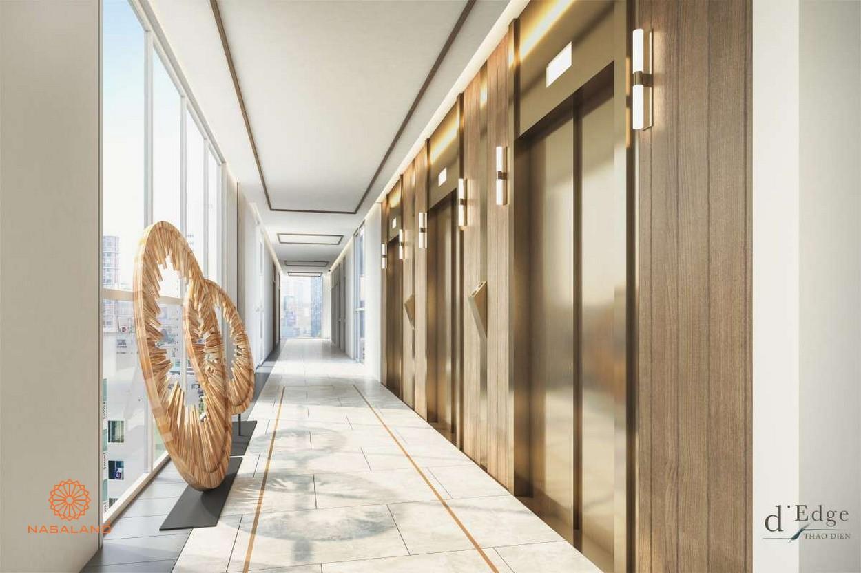 Thiết kế bắt sáng tại hành lang dự án căn hộ D'Edge Quận 2