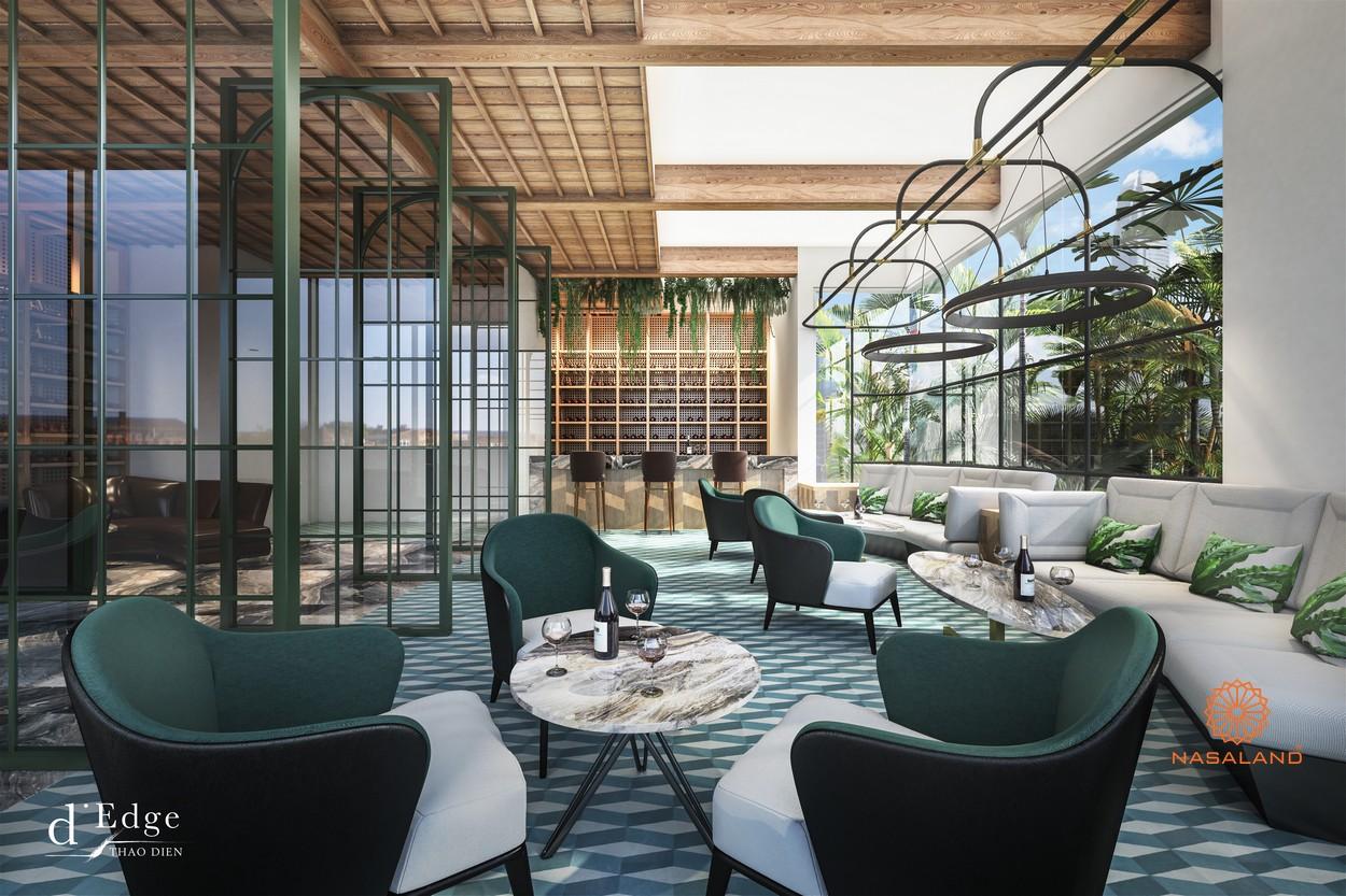 Phòng Lounge đẳng cấp tại dự án căn hộ D'Edge Quận 2