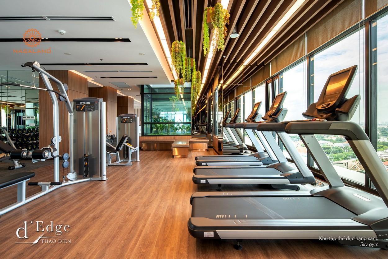 Phòng Sky Gym tại căn hộ D'Edge Thảo Điền, Quận 2