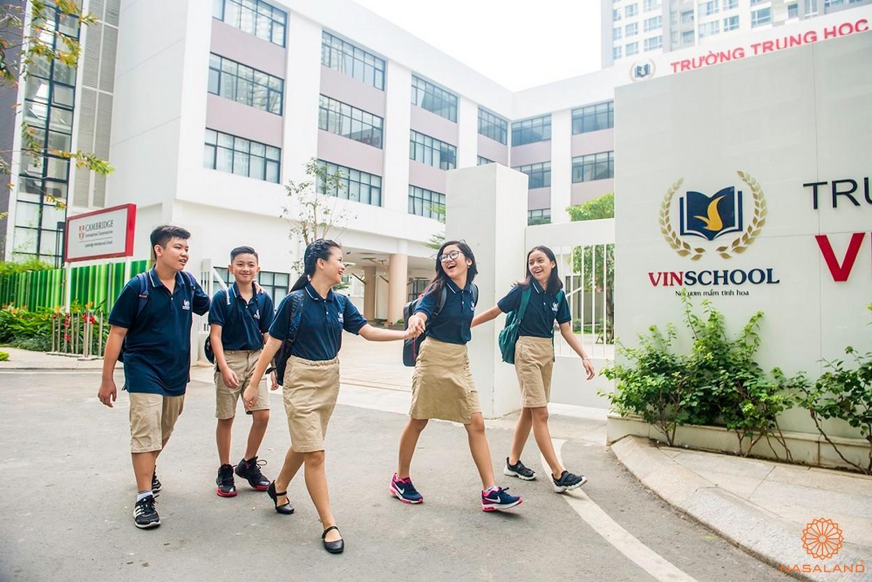 Trường học liên cấp VINSCHOOL - một trong những tiện ích cư dân Vinhomes Golden River được trải nghiệm