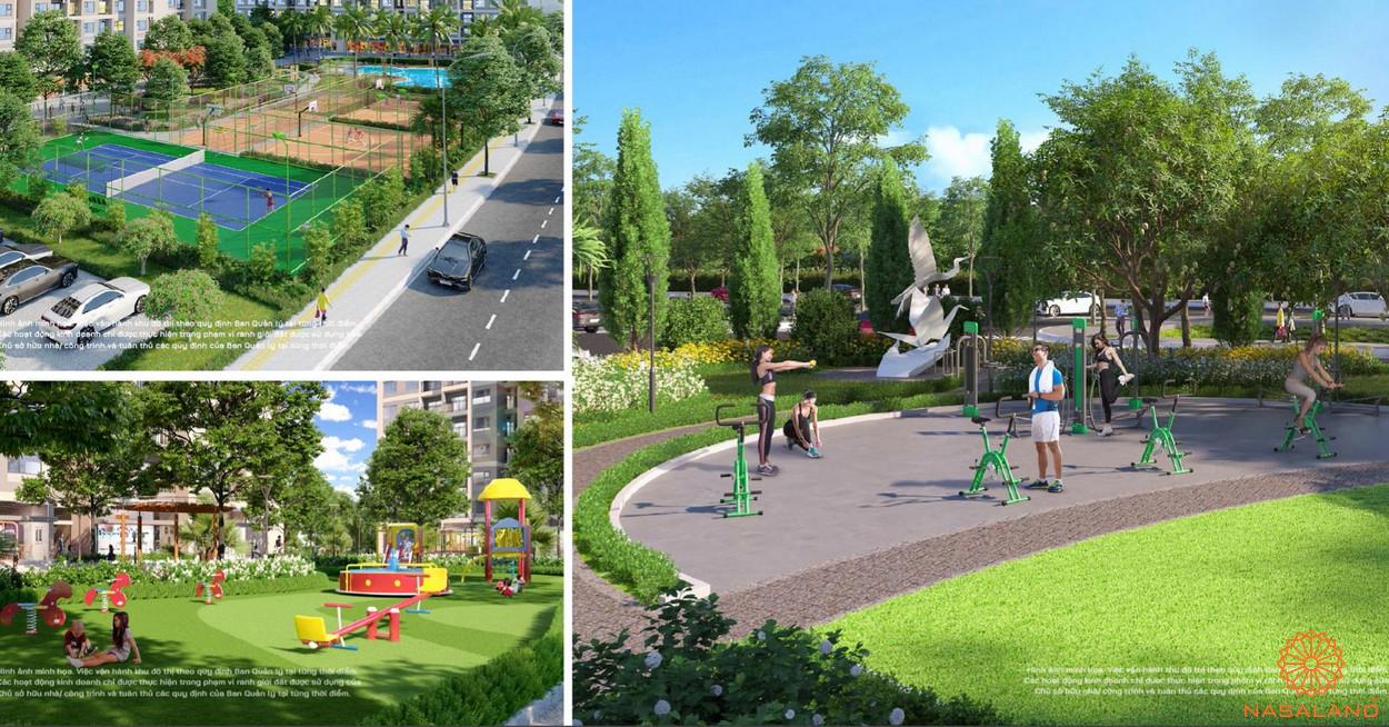 Tiện ích khu công viên thể thao The Origami Vinhomes Grand Park
