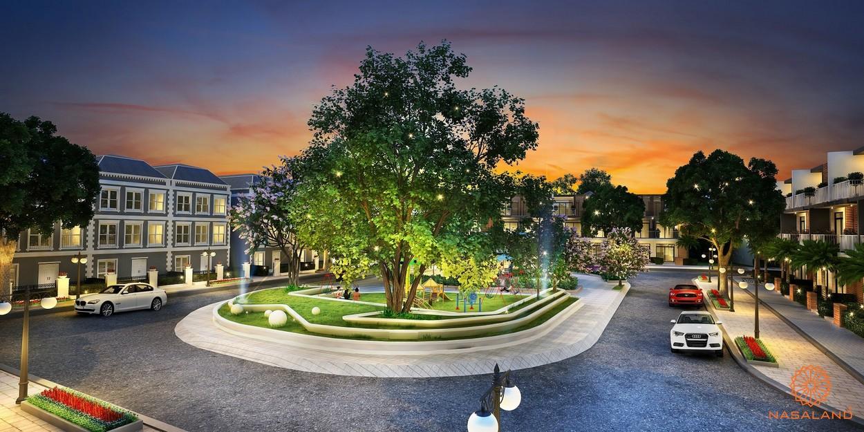 hình ảnh công viên mini tại trung tâm khu dân cư lakeview novaland quận 2