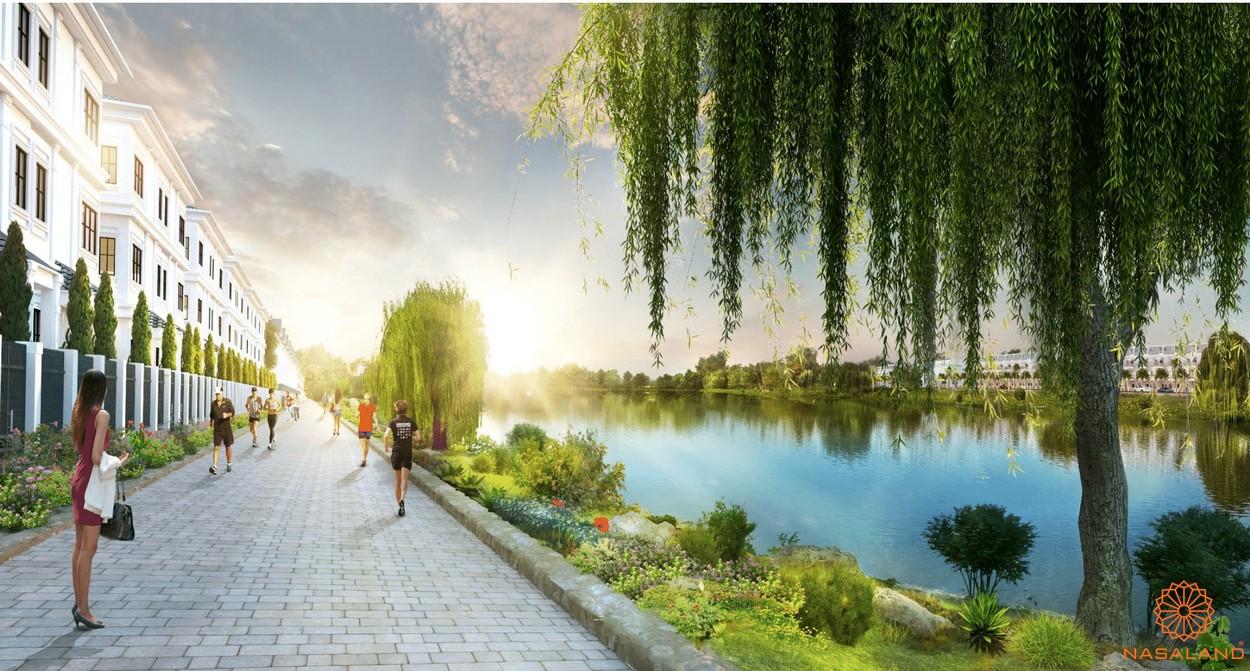 Con đường ven sông tại dự án Lakeview City