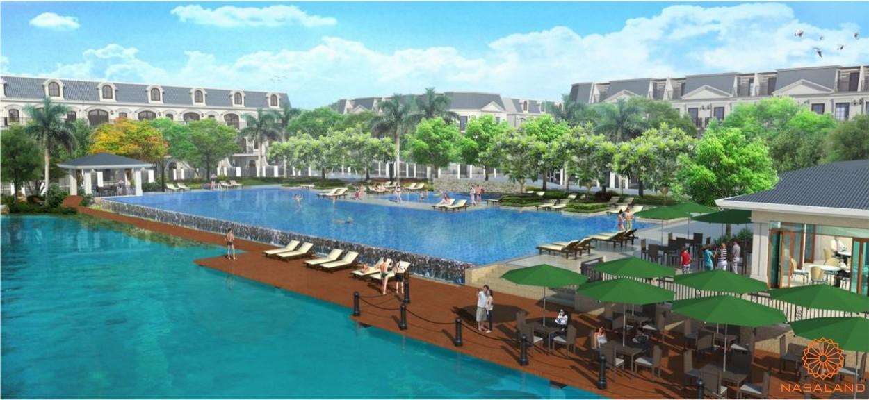 khuôn viên hồ bơi trong dự án Lakeview City quận 2