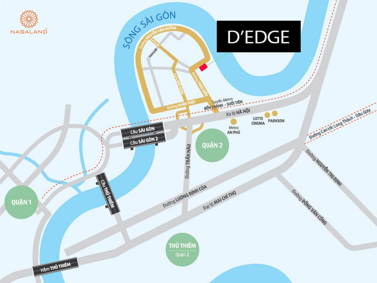 Vị trí dự án căn hộ D'Edge Thảo Điền Quận 2