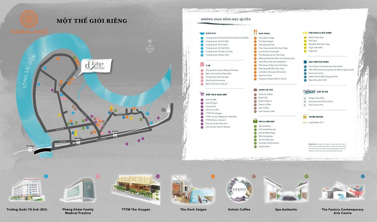 Tiện ích ngoại khu dự án căn hộ D'Edge Thảo Điền