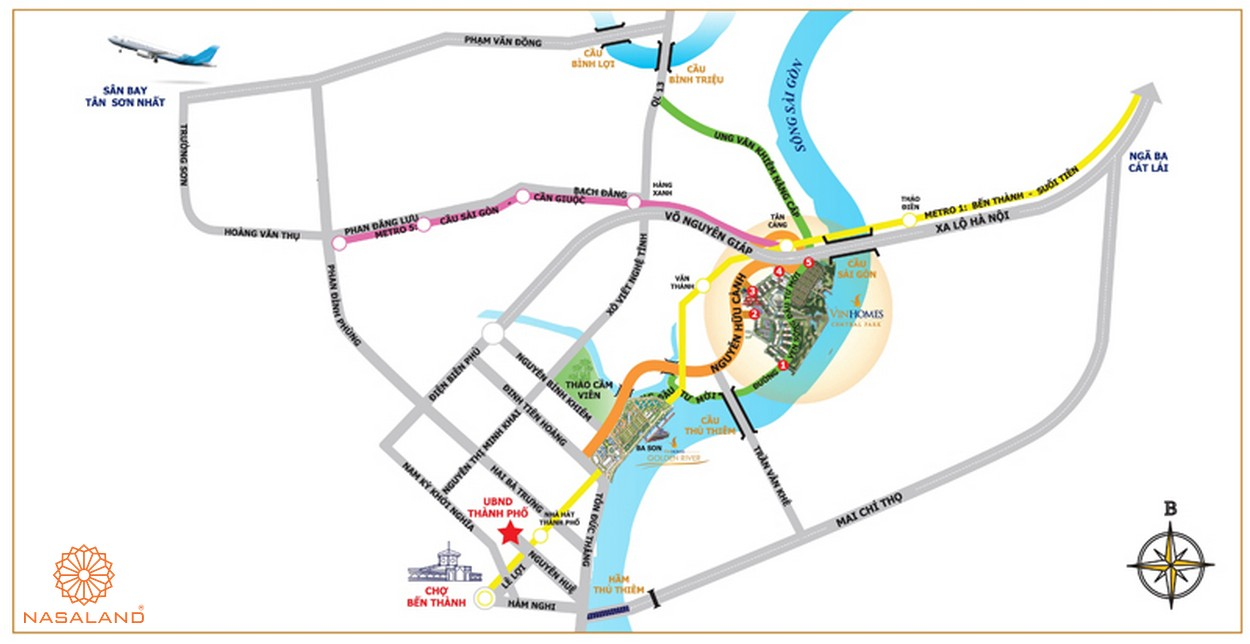 Vị trí khu đô thị Vinhomes Golden River