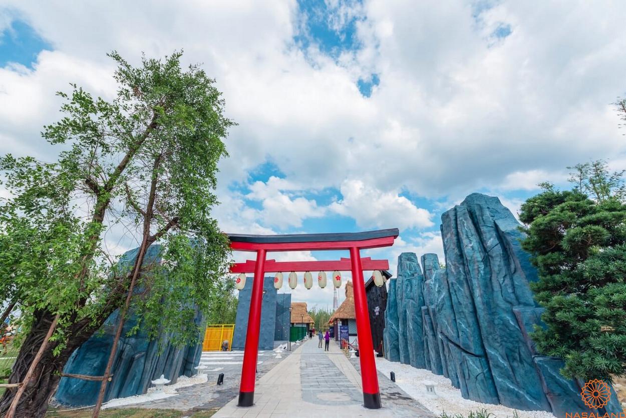 Tổng thể vườn Nhật thuộc nội khu dự án Origami - dành riêng cho cư dân sở hữu căn hộ Origami
