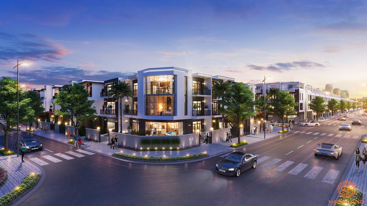 Phối cảnh dự án nhà phố Đông Tăng Long An Lộc Quận 9
