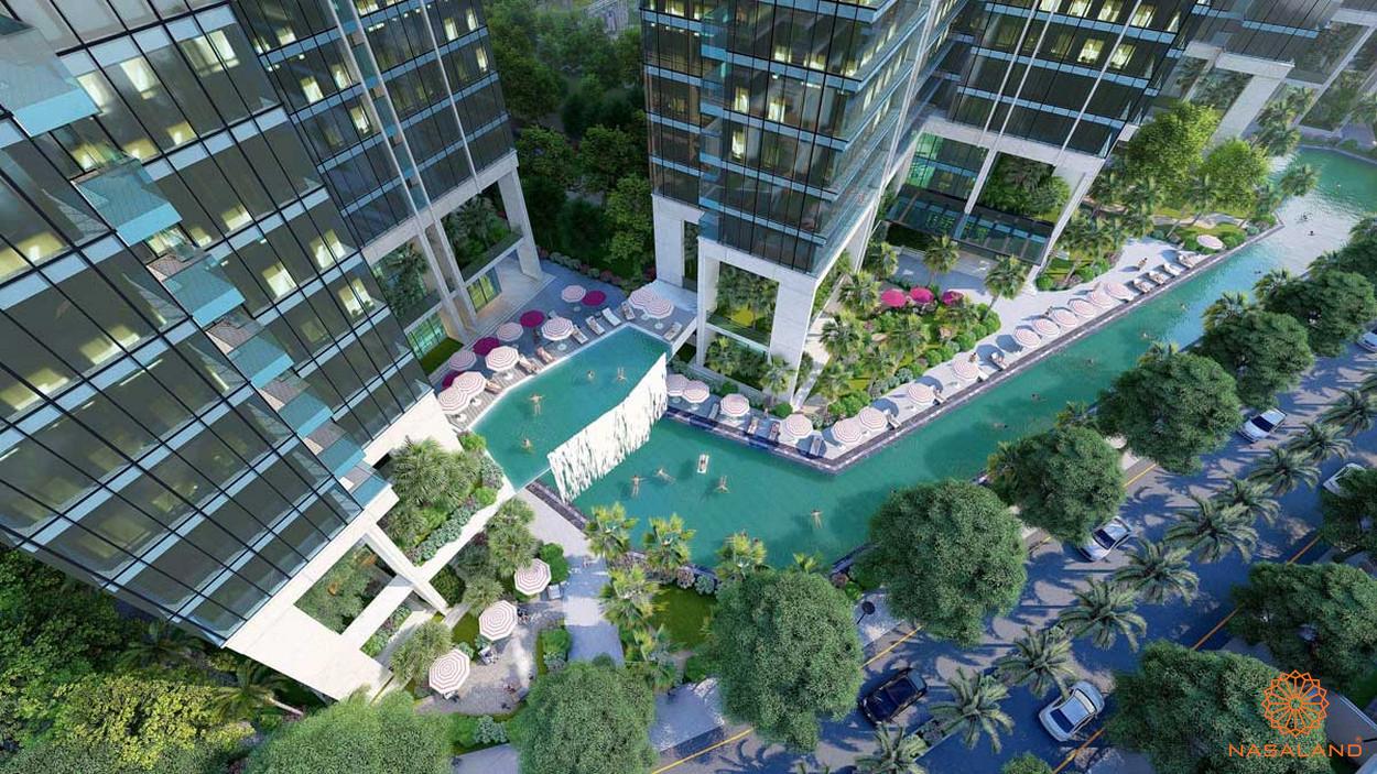 Tiện ích hồ bơi tầng nội khu căn hộ Marina Park