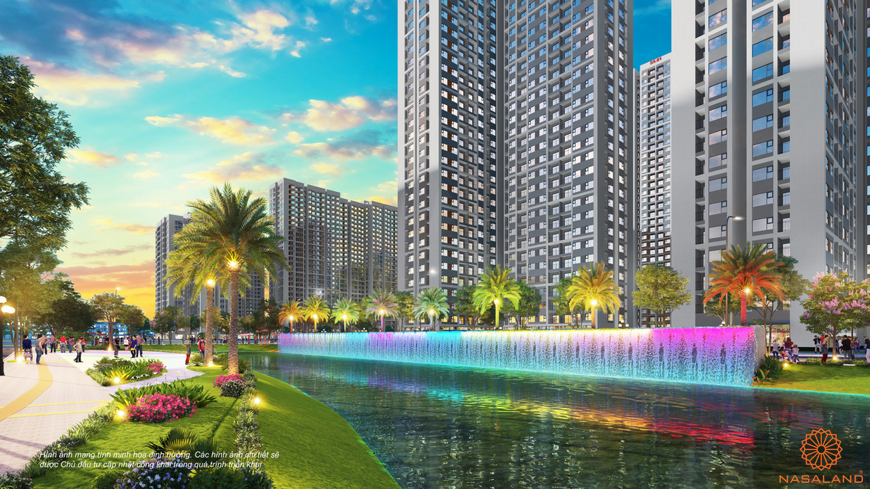 Căn hộ Rainbow - một góc công viên cầu vồng