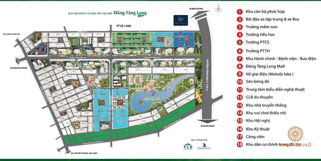 Tiện ích tại dự án nhà phố Đông Tăng Long An Lộc Quận 9