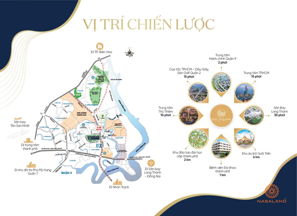 Vị trí dự án nhà phố Đông Tăng Long An Lộc Quận 9
