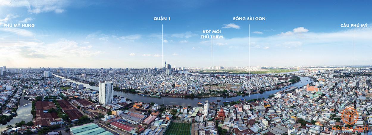 Hướng nhìn từ vị trí dự án M-One Nam Sài Gòn
