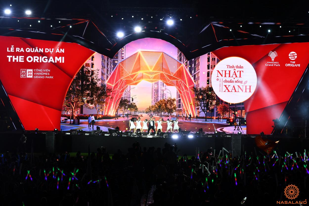 Tổng kết lễ ra quân The Origami Vinhomes Grand Park - sân khấu đầy màu sắc và hiện đại