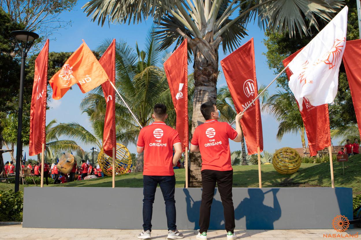 Tổng kết lễ ra quân The Origami Vinhomes Grand Park - đưa cờ Nasaland vào chung với cờ các đại lý khác