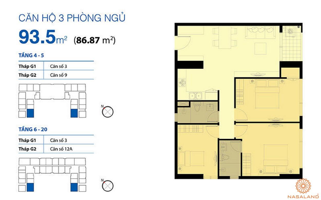 Mặt bằng dự án căn hộ Galaxy 9 quận 4 chủ đầu tư Novaland