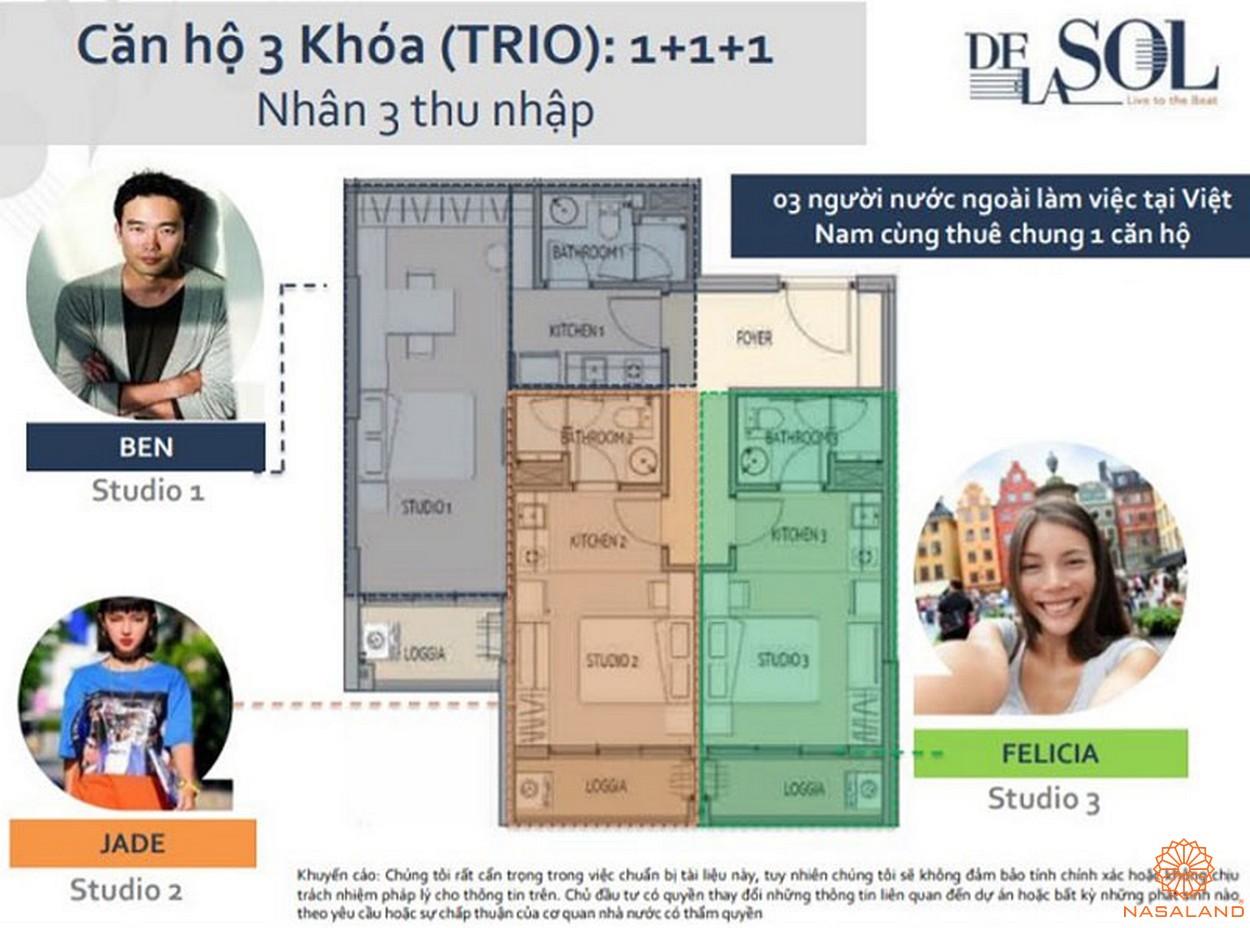Mặt bằng dự án căn hộ De La Sol quân 4