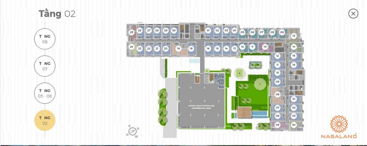 Mặt bằng tháp tiện ích 8 tầng Lancaster Lincoln - Tầng 2