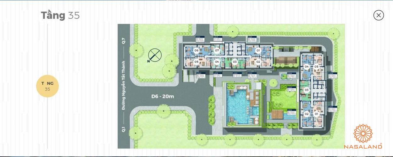 Mặt bằng tháp căn hộ 40 tầng Lancaster Lincoln - Tầng 36-37