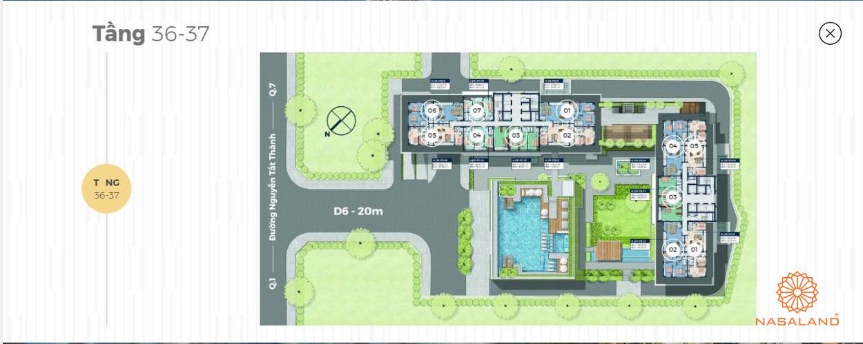 Mặt bằng tháp căn hộ 40 tầng Lancaster Lincoln - Tầng 35