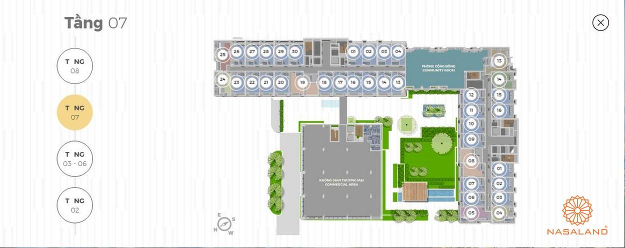 Mặt bằng tháp tiện ích 8 tầng Lancaster Lincoln - Tầng 7