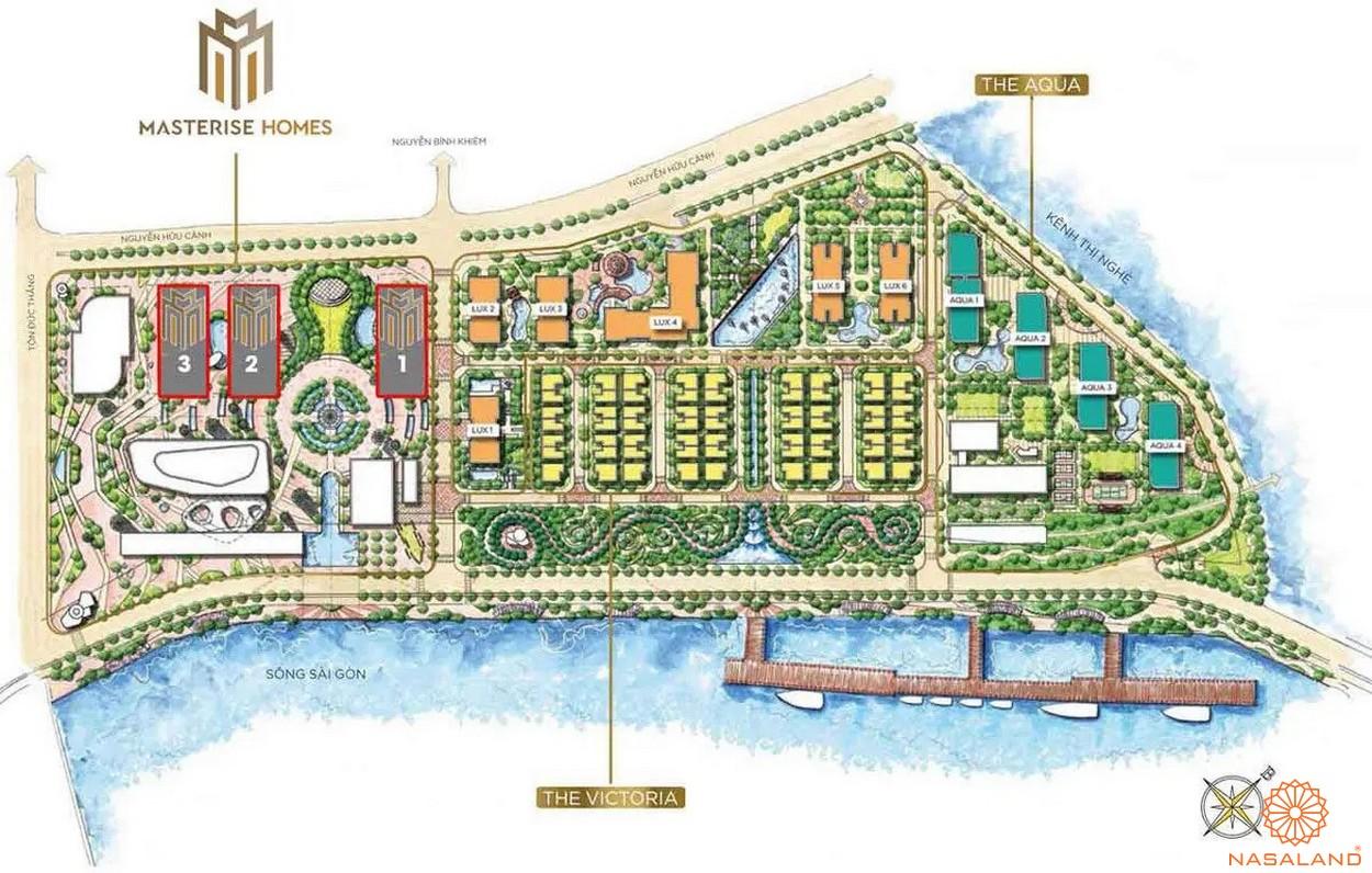 Mặt bằng tổng thể dự án căn hộ Masterise Homes Ba Son
