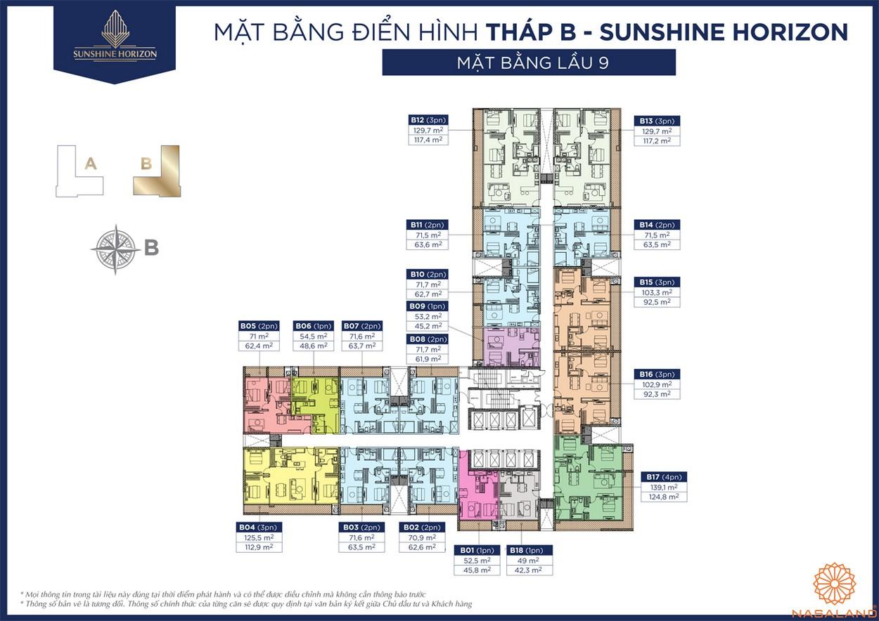 Mặt bằng dự án căn hộ Sunshine Horizon quận 4 chủ đầu tư Sunshine Group