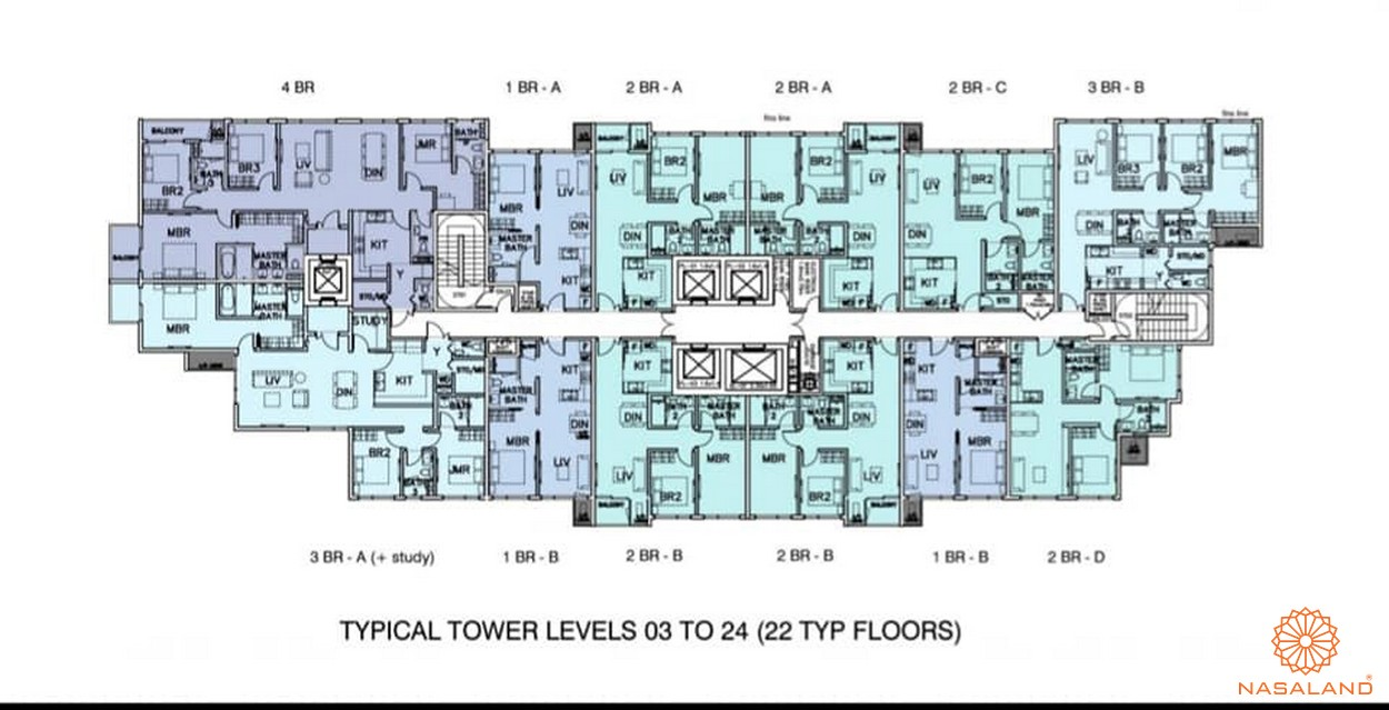 Mặt bằng tổng thể dự án căn hộ Mozac Thảo Điền quận 2
