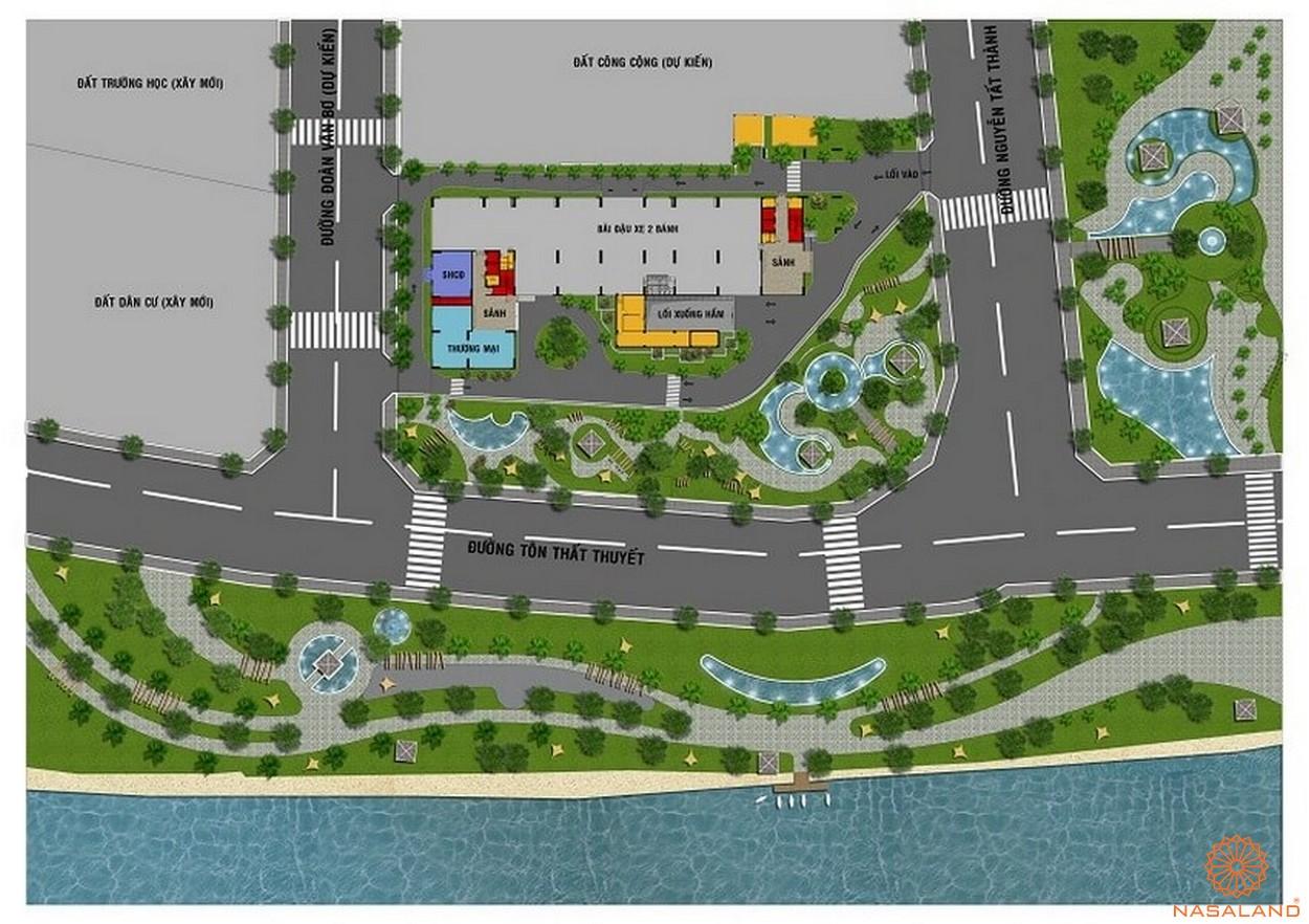 Mặt bằng dự án căn hộ Riva Park quận 4