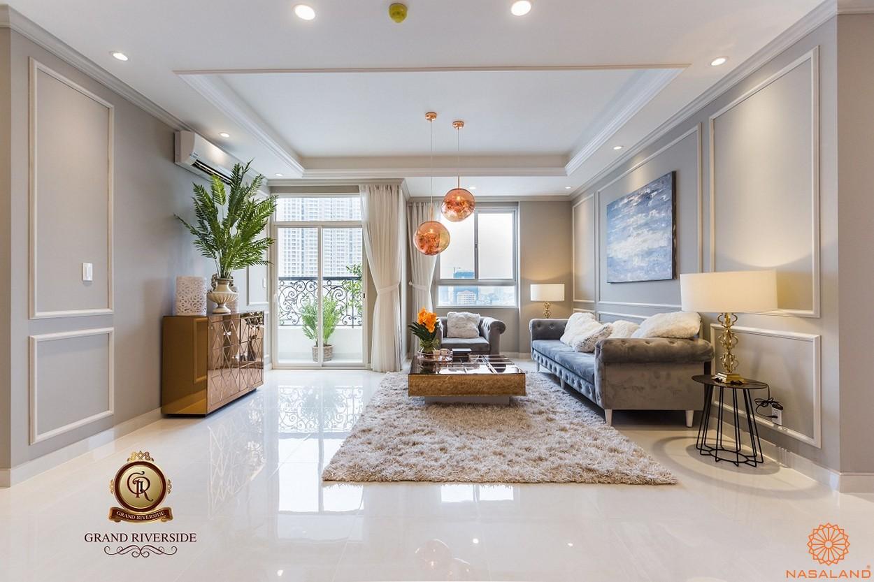 Nhà mẫu phòng khách căn hộ Grand Riverside quận 4 thành phố Hồ Chí Minh