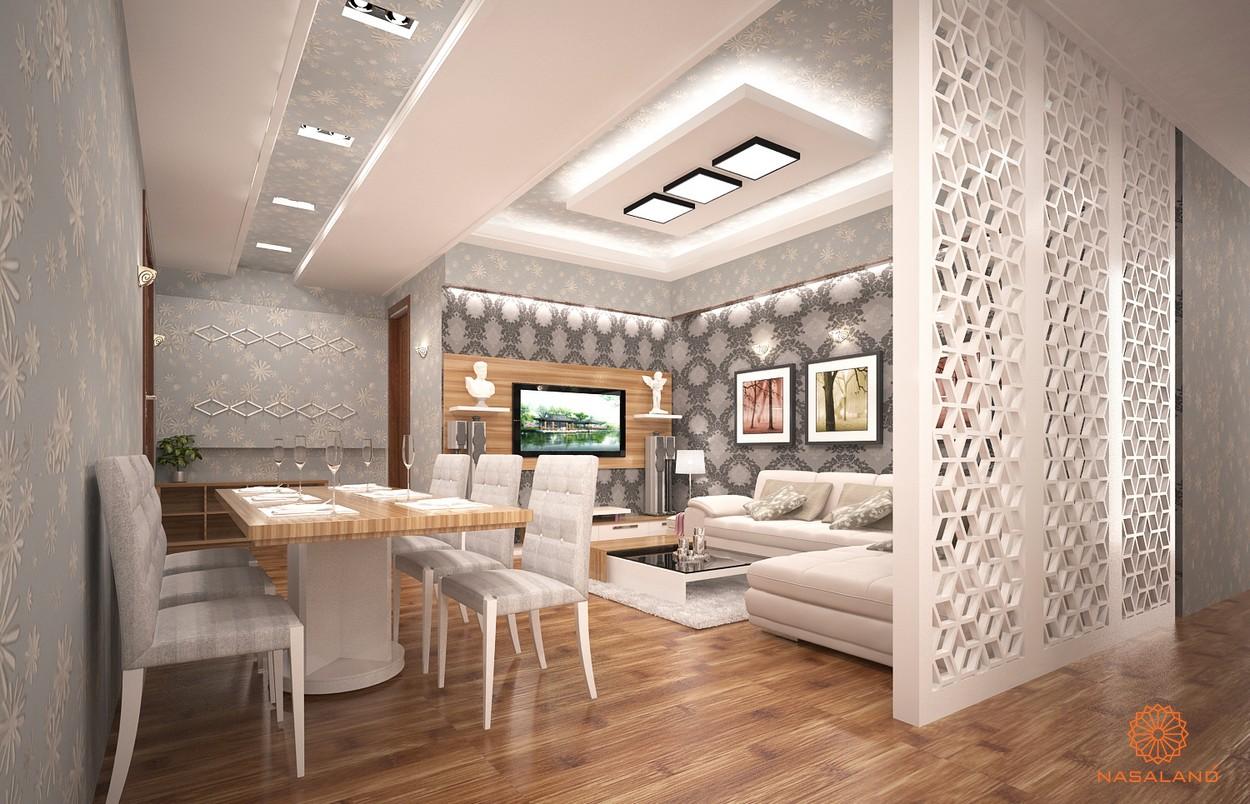 Nhà mẫu căn hộ Phú Đông Central Quận 1 - phòng khách và bàn ăn