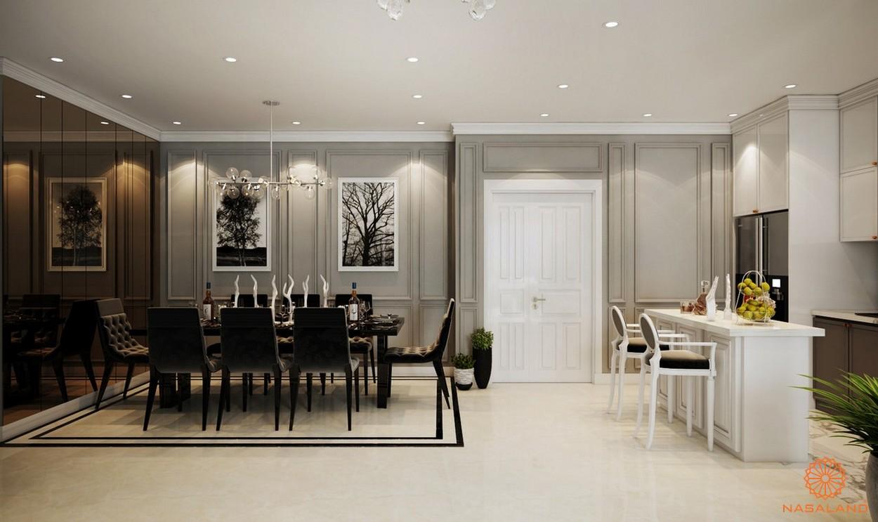 Nhà mẫu dự án căn hộ Grand Central quận 3 - phòng bếp