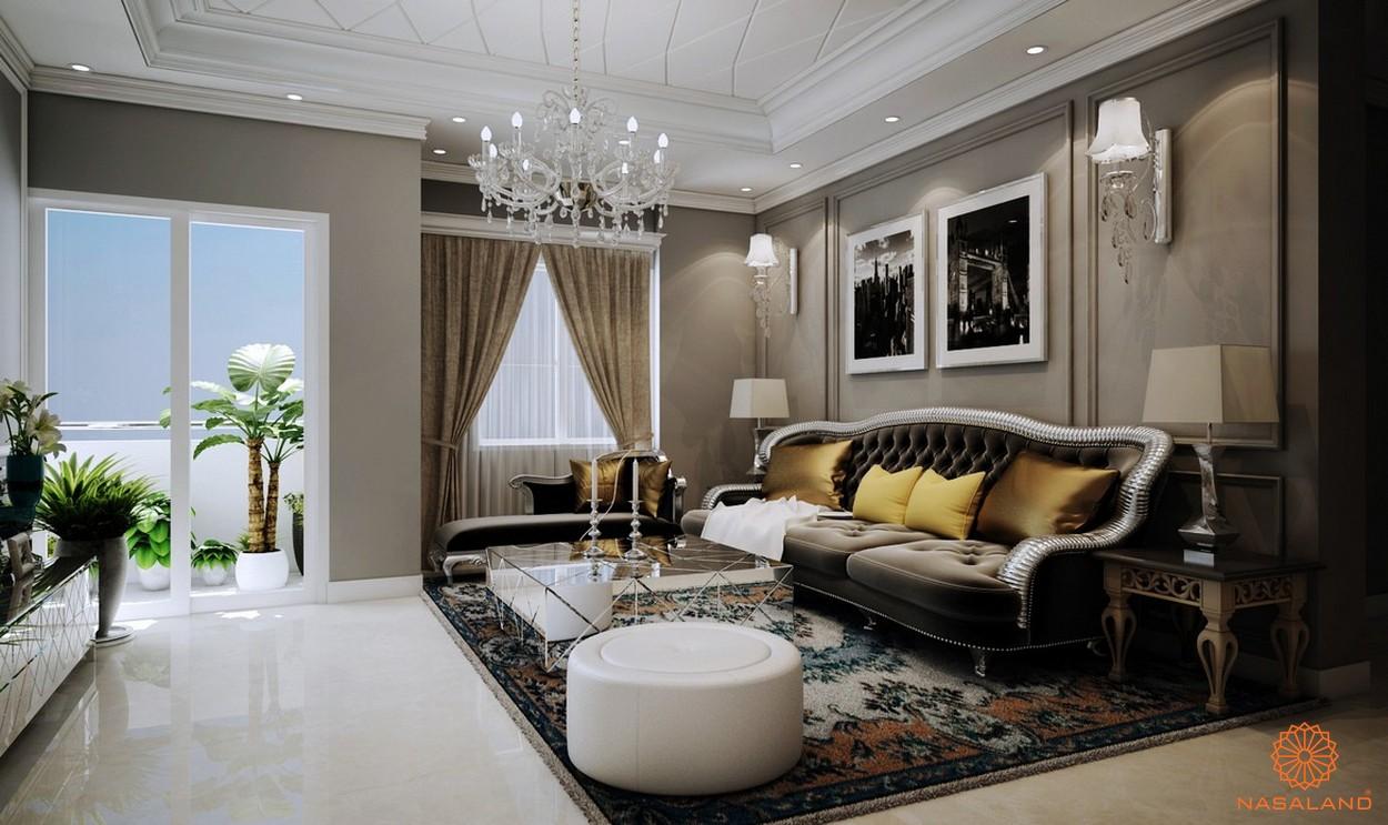 Nhà mẫu dự án căn hộ Grand Central quận 3 - phòng khách