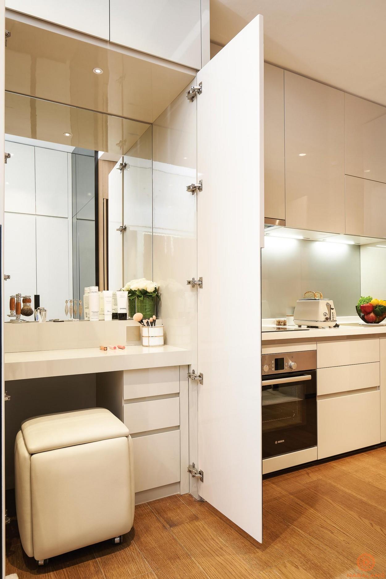 Nội thất thuộc gian bếp của căn hộ