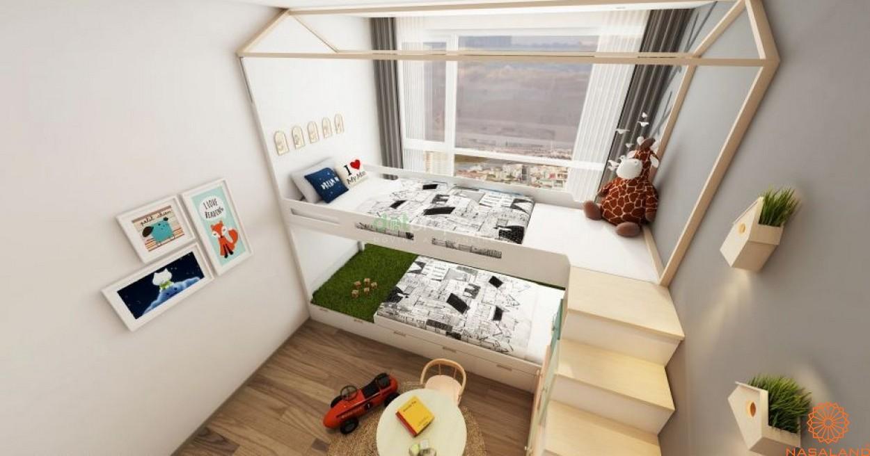 Nội thất phòng ngủ dành cho 1 người của căn hộ