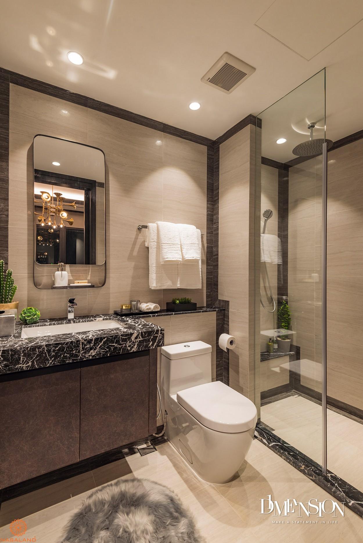 Nội thất nhà vệ sinh bàn giao căn hộ D1 Mension quận 1