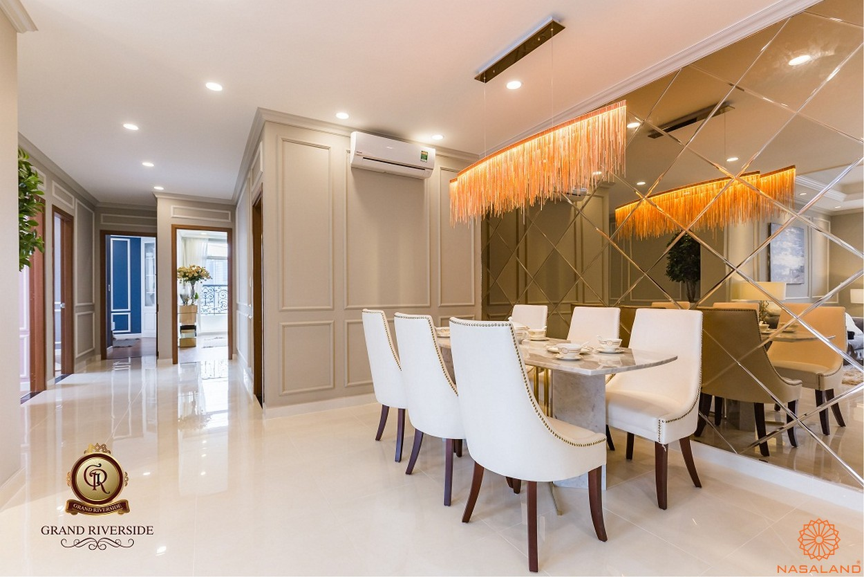 Nội thất phòng ăn của căn hộ thuộc dự án
