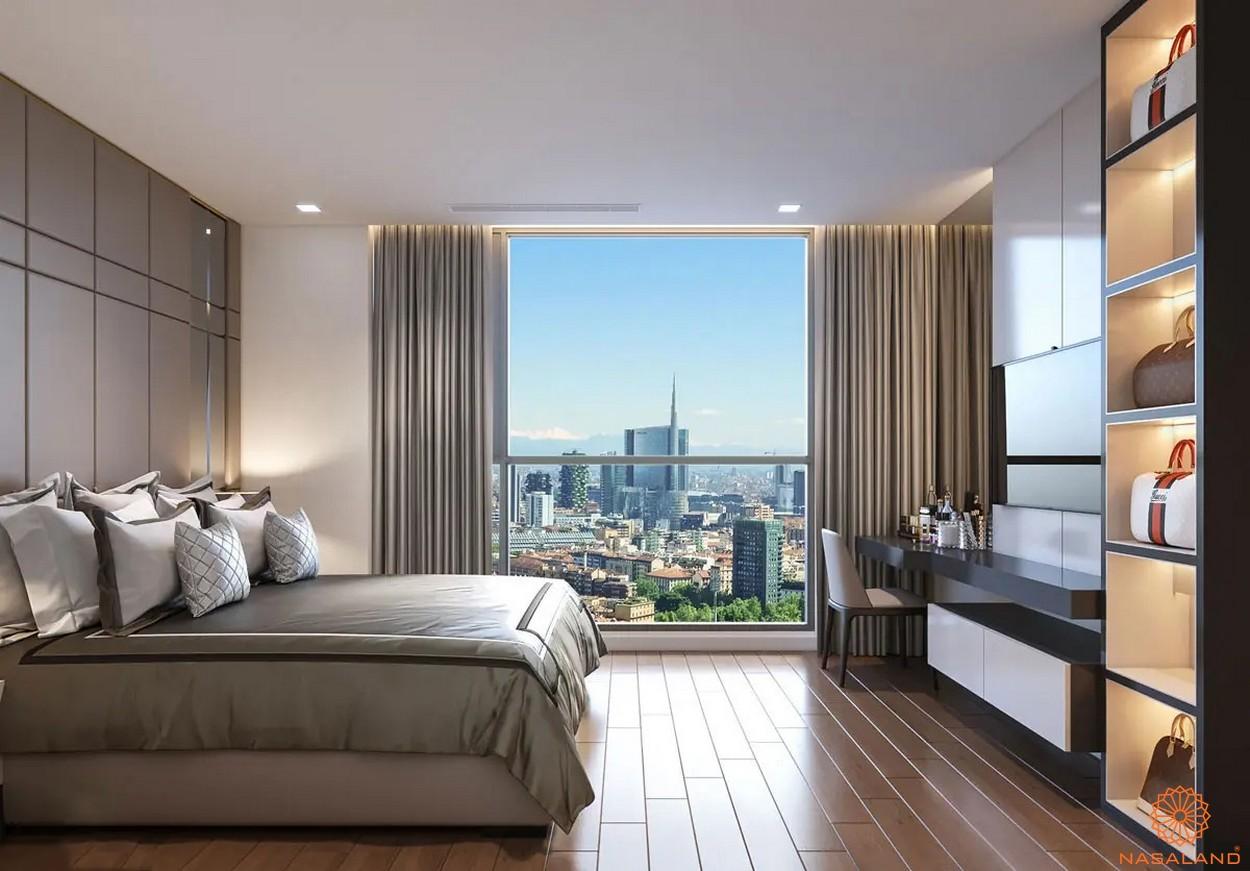 Nội thất phòng ngủ dự án căn hộ Masterise Homes Ba Son
