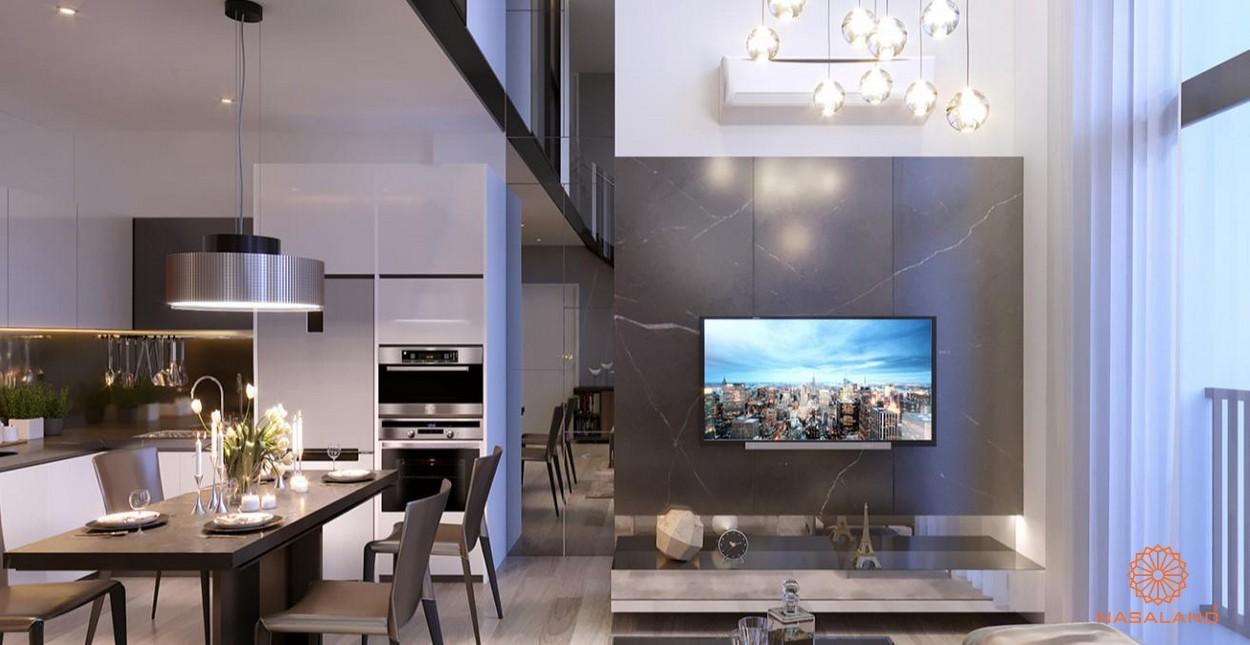 Nội thất phòng khách và phòng bếp tại dự án Asiana quận 6