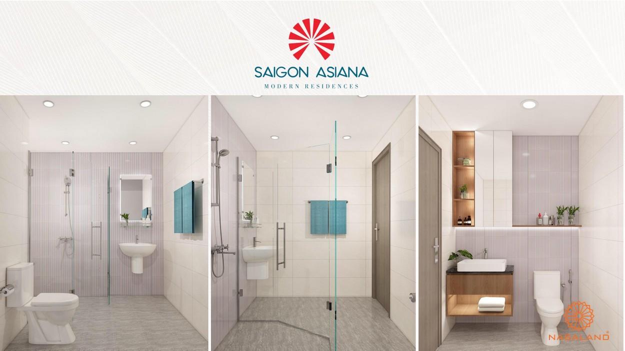 Nội thất phòng vệ sinh Asiana quận 6 rộng rãi tiện cùng tủ đựng đồ