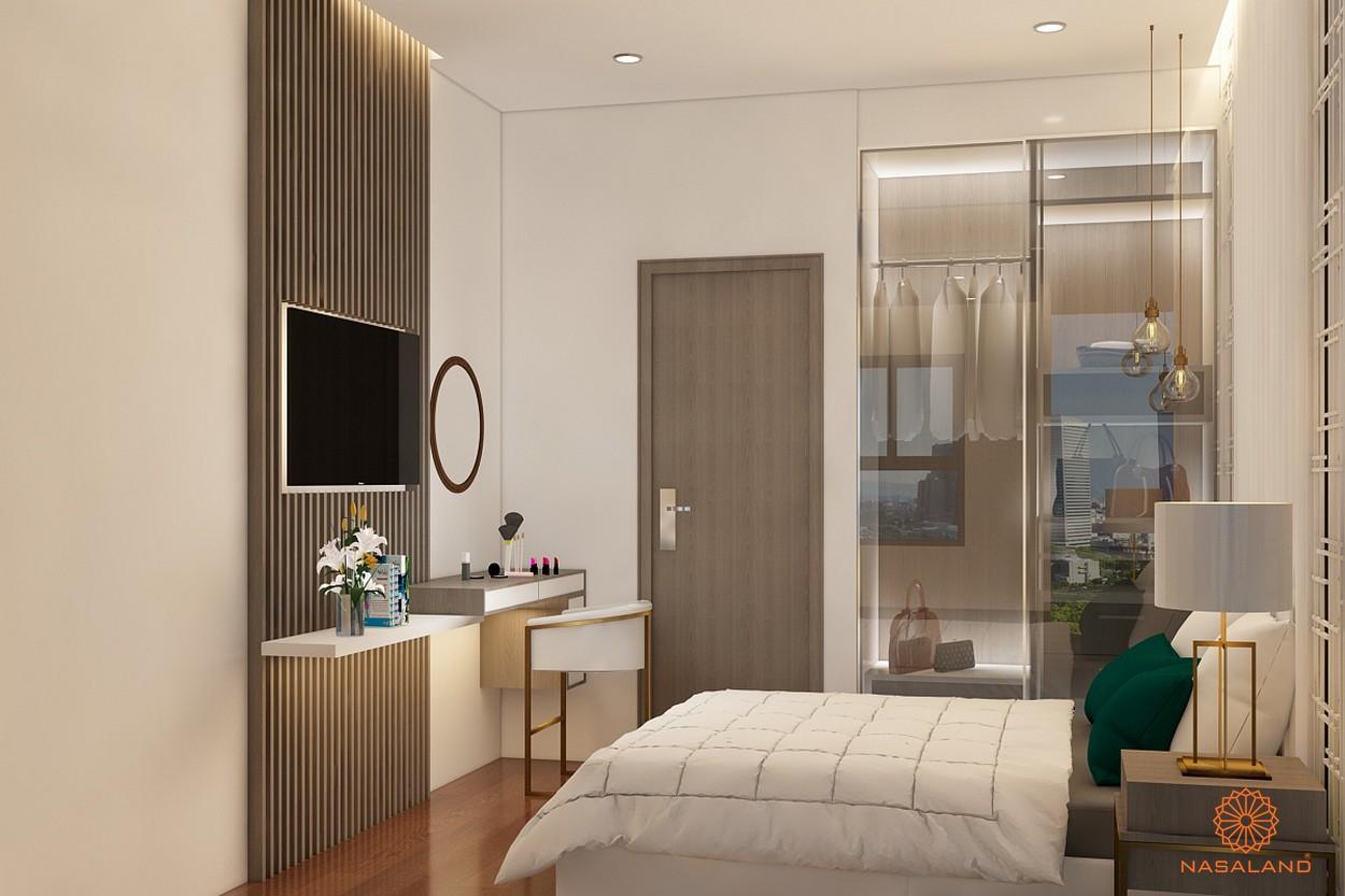 Nội thất phòng ngủ Asiana quận 6 đầy đủ tiện nghi từ bàn làm việc tới tủ đựng đồ