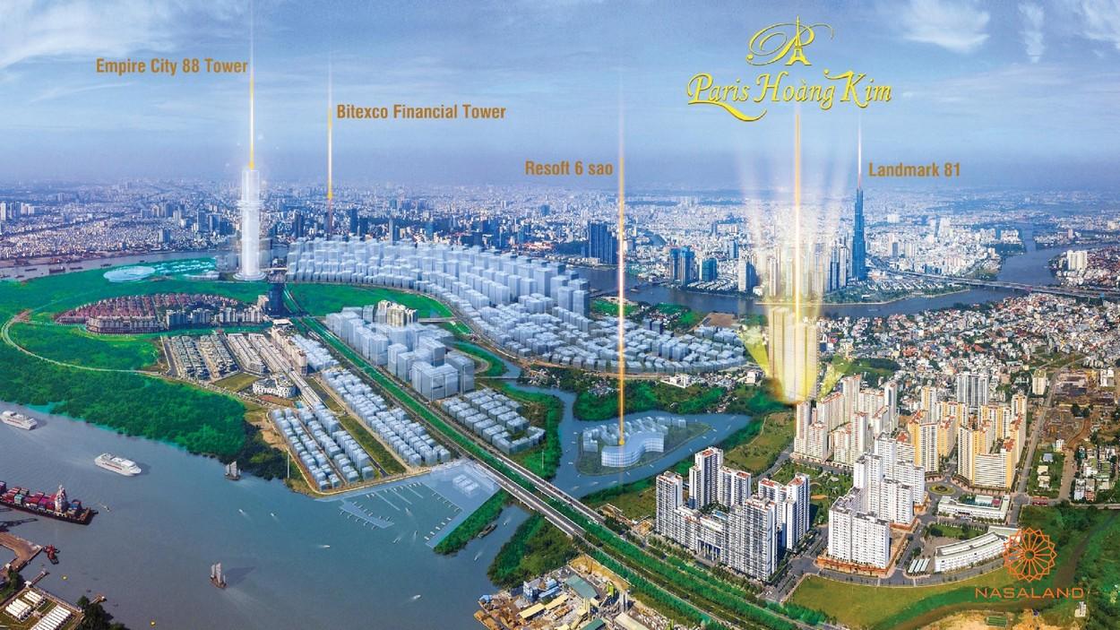 Vị trí dự án Paris Hoàng Kim Quận 2