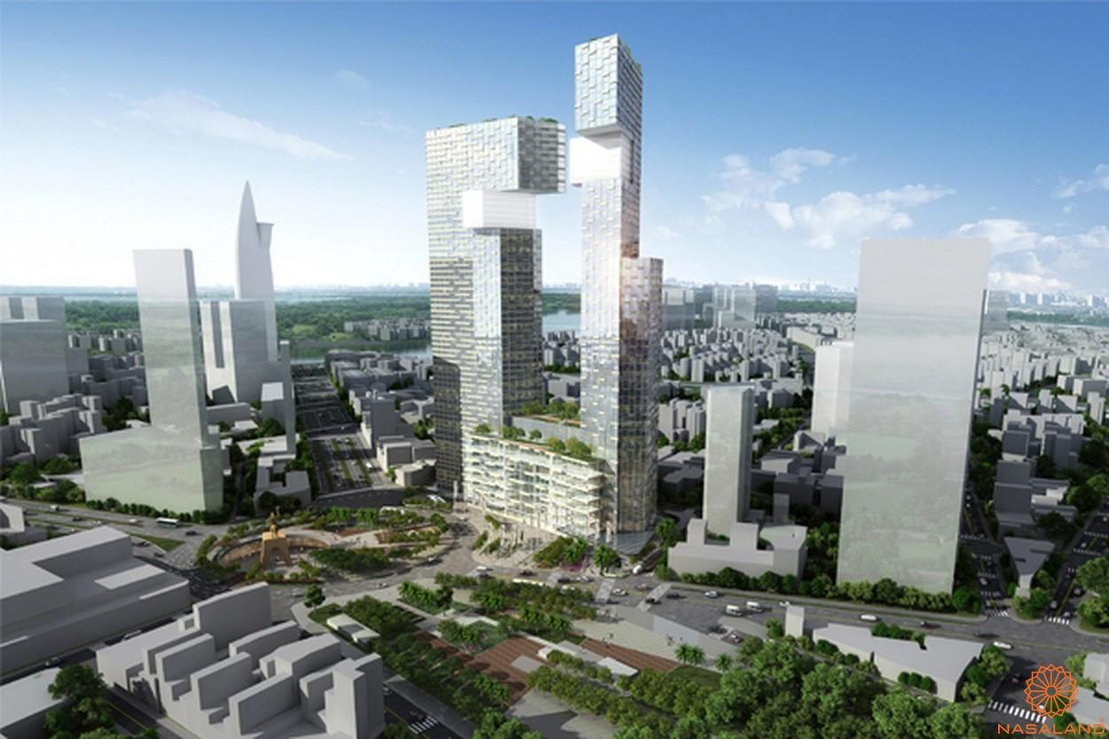 Phối cảnh tổng thể dự án căn hộ The Spirit Of Saigon quận 1