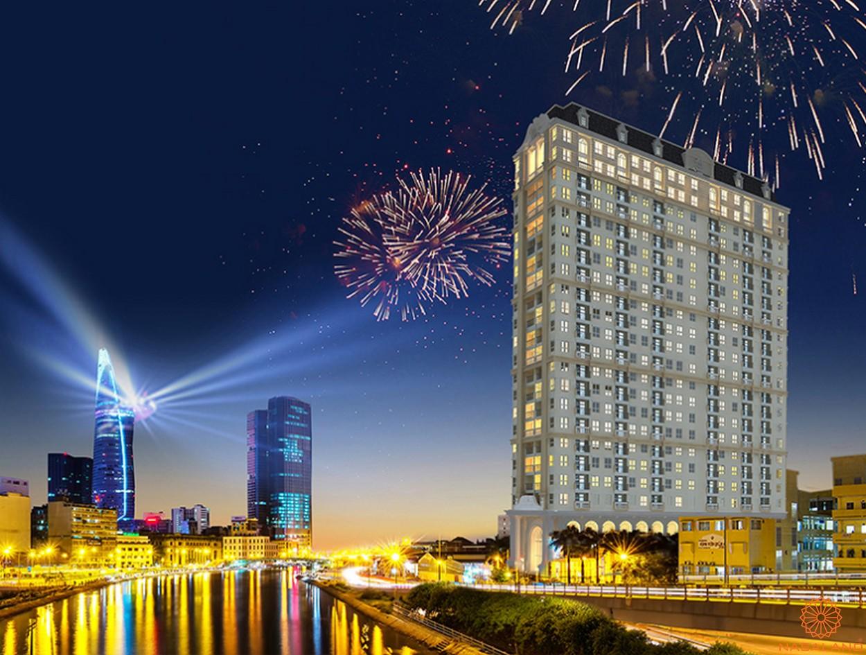 Phối cảnh dự án căn hộ Grand Riverside quận 4 thành phố Hồ Chí Minh
