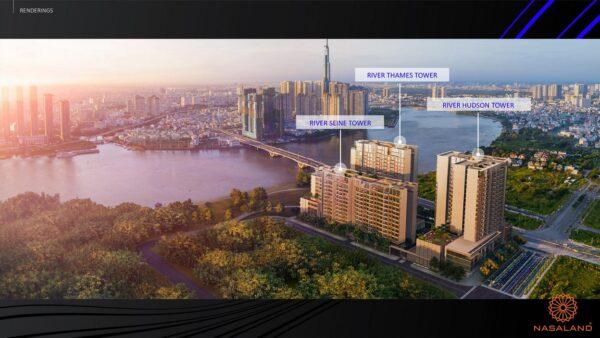 Hình ảnh phối cảnh dự án căn hộ The River Thủ Thiêm Quận 2 Chủ đầu tư CII