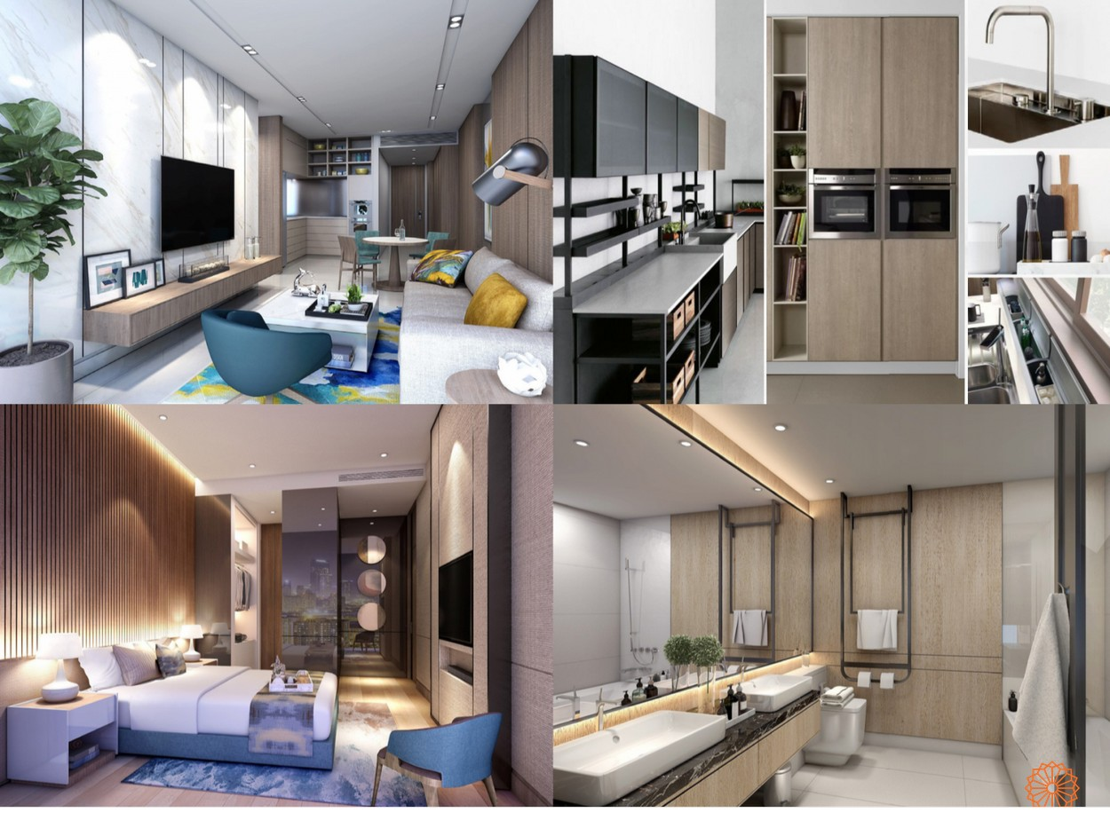 Thiết kế tổng quan các phòng của căn hộ