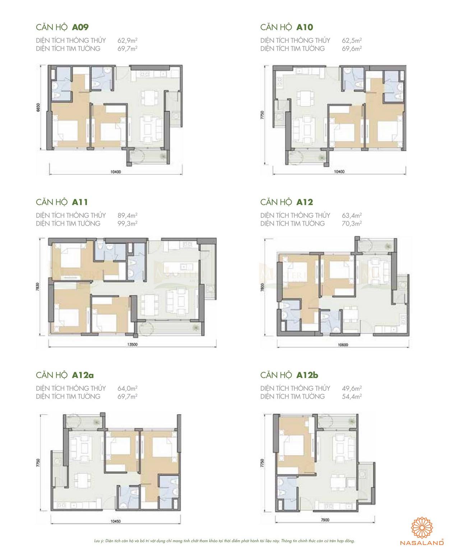 Thiết kế căn hộ A09 đến A012b của dự án chung cư Masteri quận 2