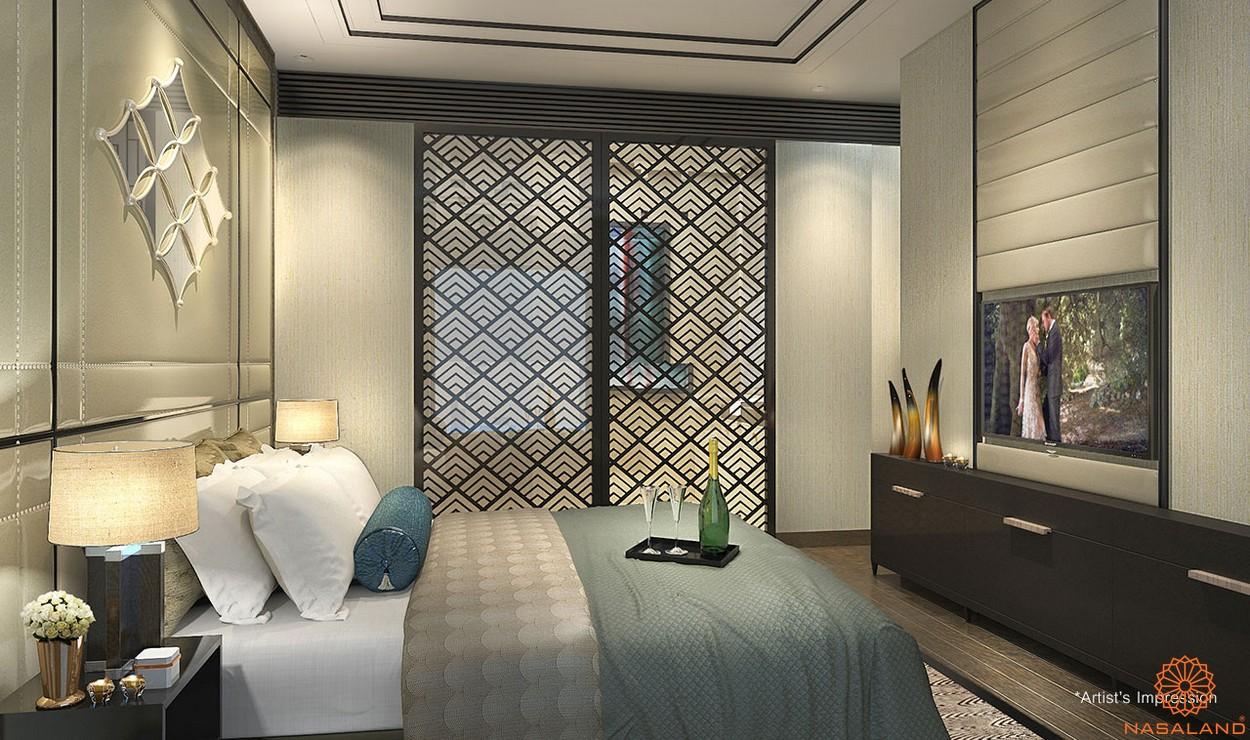 Thiết kế phòng ngủ bàn giao căn hộ D1 Mension quận 1